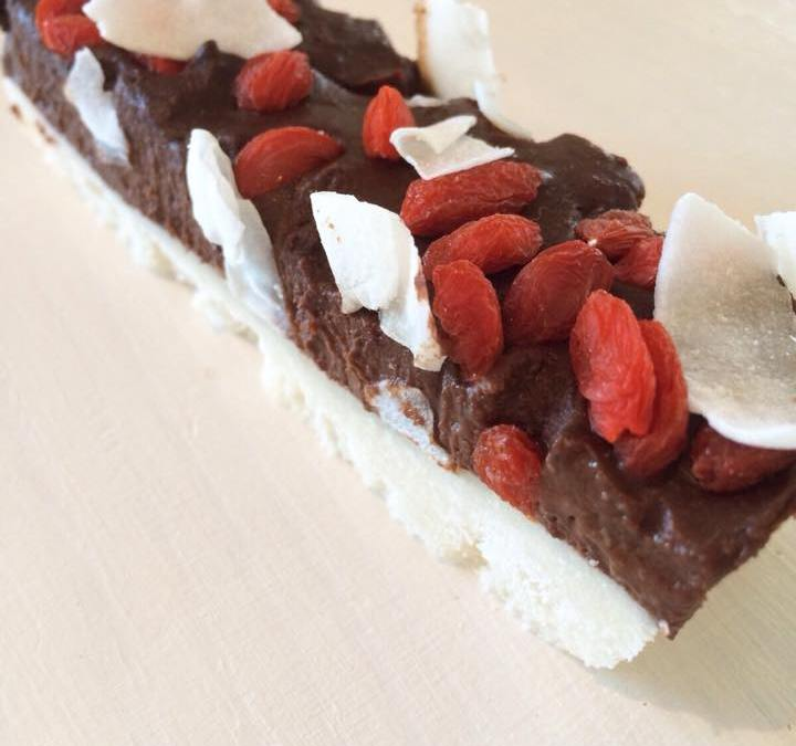Pixie's kitchen | Raw Chocolate Ganache and Coconut Ice Slice