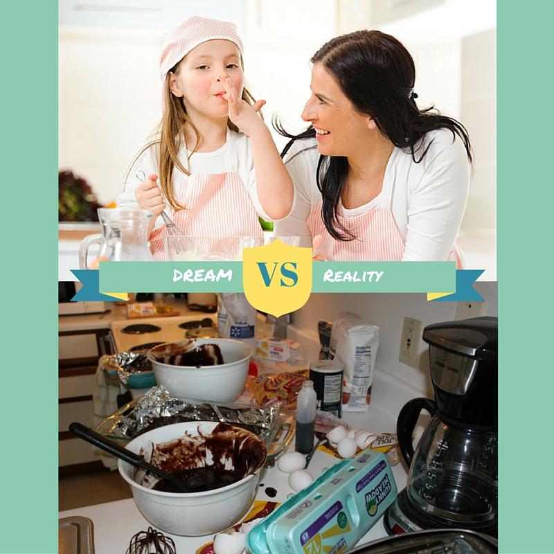 dream vs. reality of baking