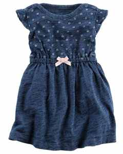 carters denim solid dress