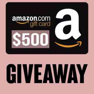 It's Giveaway time! Enter to win a $500 Amazon Gift Card!