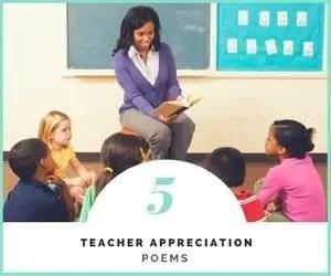 5 teacher appreciation poems