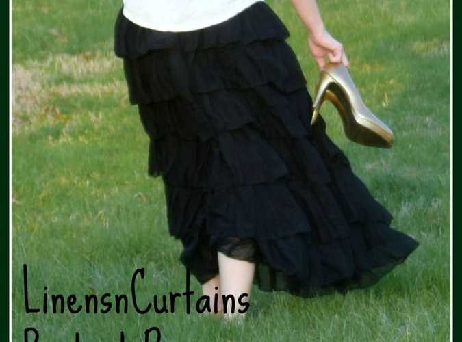 #LinensnCurtains Product Review- Black Layered Skirt