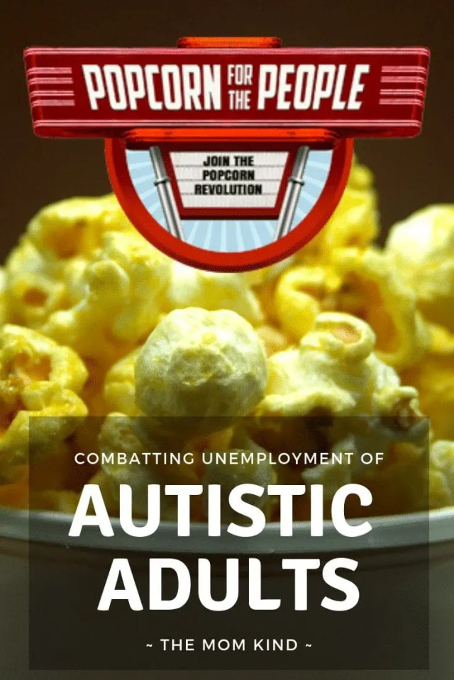 With Unemployment rates being 80%-90% for Autistic Adults, Popcorn for the people is working to make a change with a some delicious gourmet popcorn! Check out their awesomeness and go order some popcorn! #autism #autismemployment #actuallyautistic