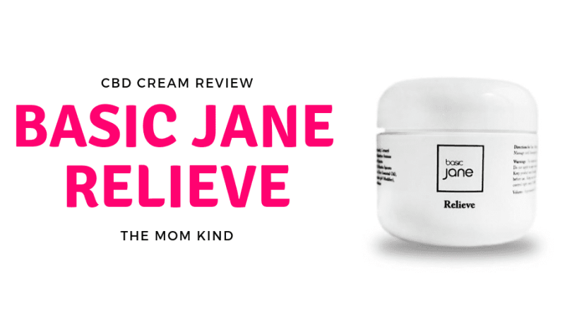 CBD Cream Review on Basic Jane Relieve #cbd #productreview #painrelief #fibromyalgia
