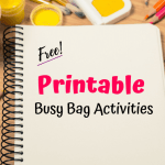 free printable busy bag activities