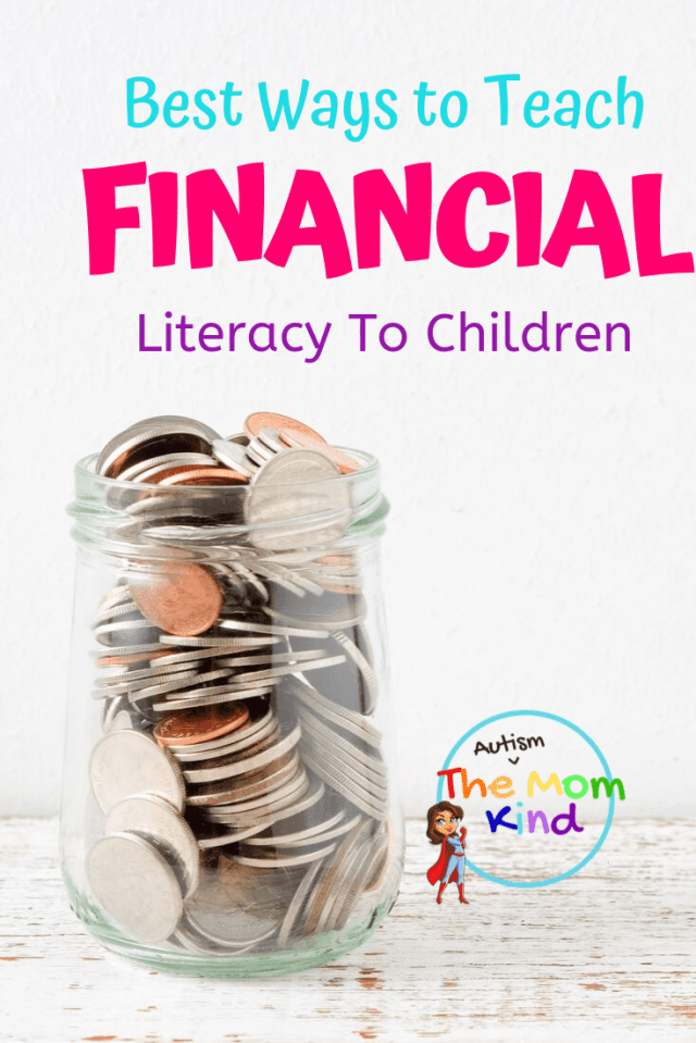Learning about money can start as early as preschool, and these lessons last a lifetime.  Learn how to teach financial literacy for kids #financialliteracy #parentingtips #money #saving