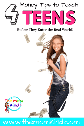How your kids handle their money will directly impact their quality of life, which makes your financial insight so crucial to their personal growth. Here are some things you should teach your teens about money to prepare them for the real world #parentingteens #parentingtips #moneytips #finances