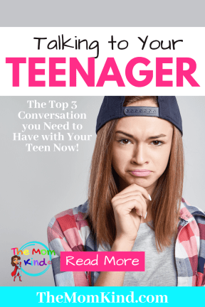 Do you know the difficult conversations to have with your teen? Let's check the top three and help you know how to prepare your teen for the real world! #parentingtips #parentingteens