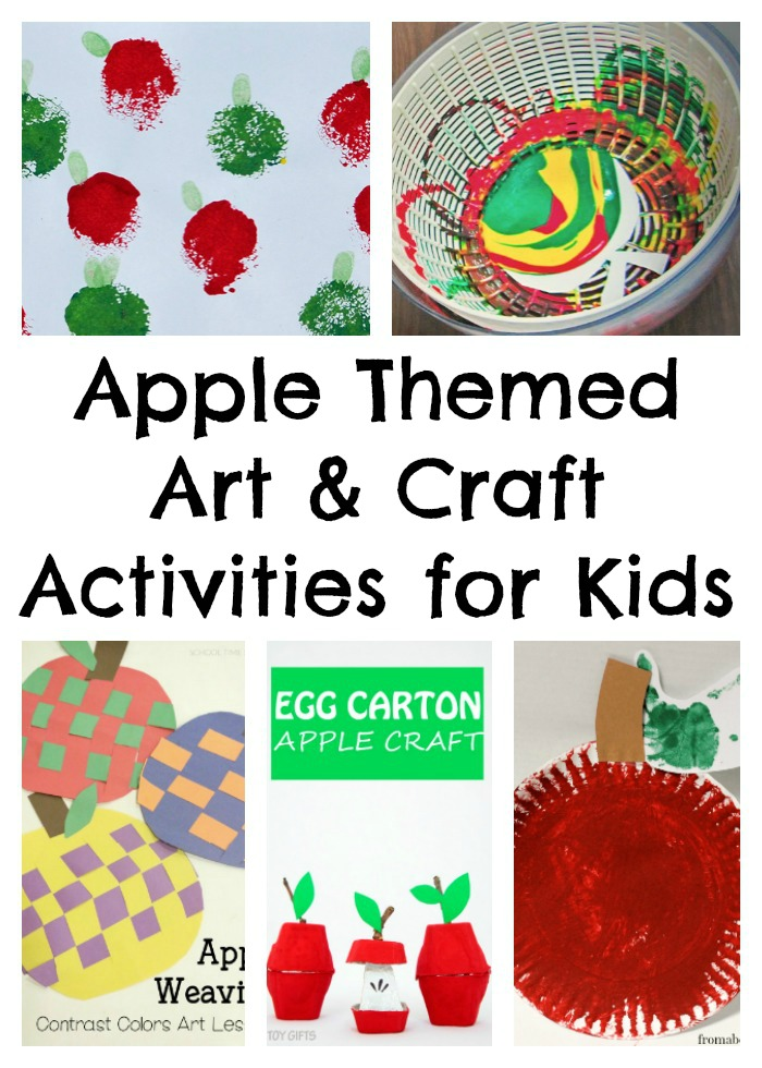 Apple Themed Art & Craft Activities for Kids -