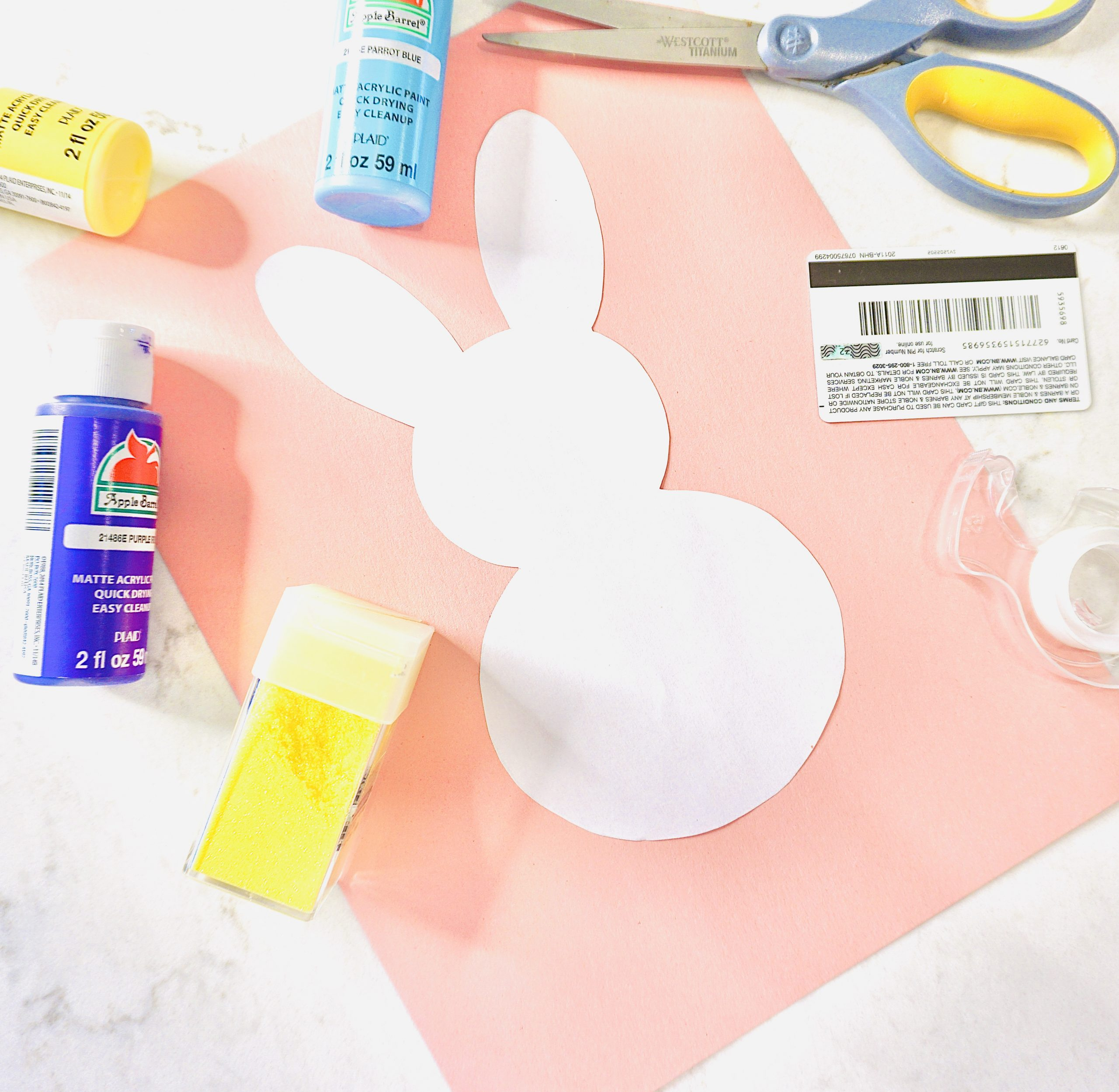 Easter Bunny Scrape-Paint Activity