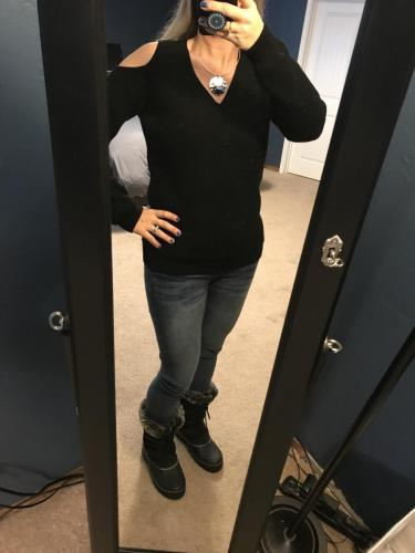Cold Shoulder Sweater from StitchFix