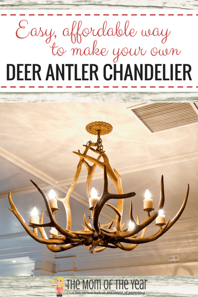 A Diy Deer Antler Chandelier Is The Perfect Accent Piece