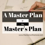 A Master Plan or The Master's Plan?
