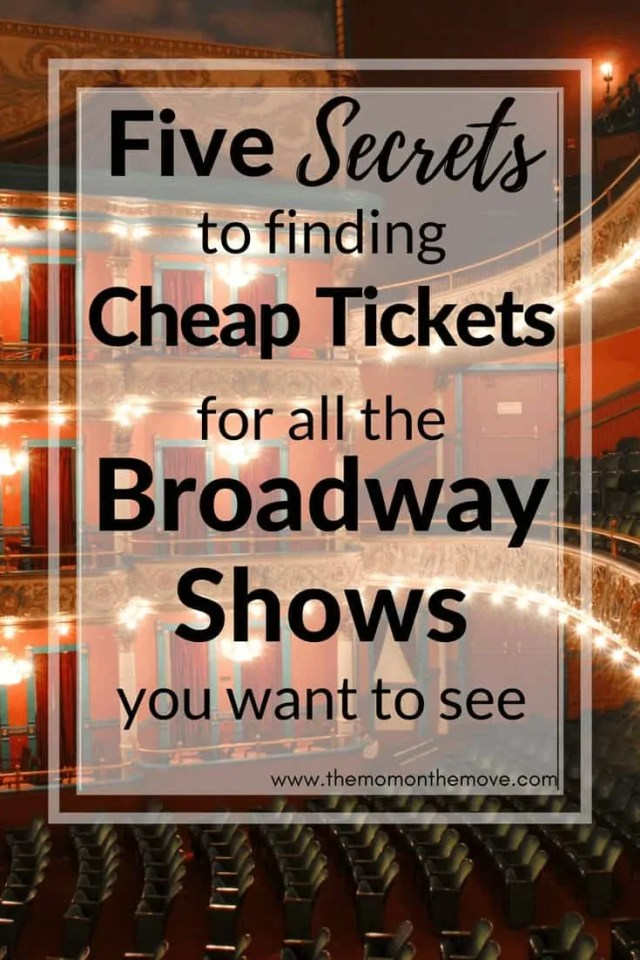 Cheap Broadway Tickets Pinnable Image