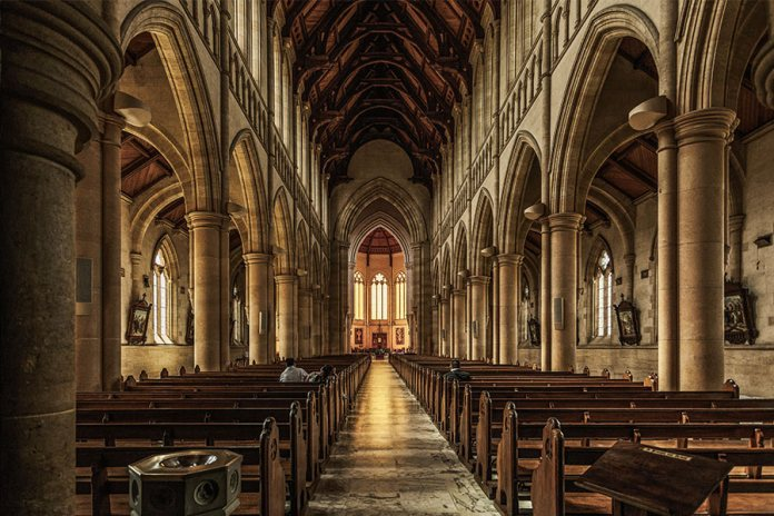 The interior of a Catholic cathedral where abuse may happen