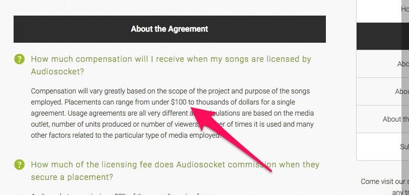 Earn residual income by licensing music you make