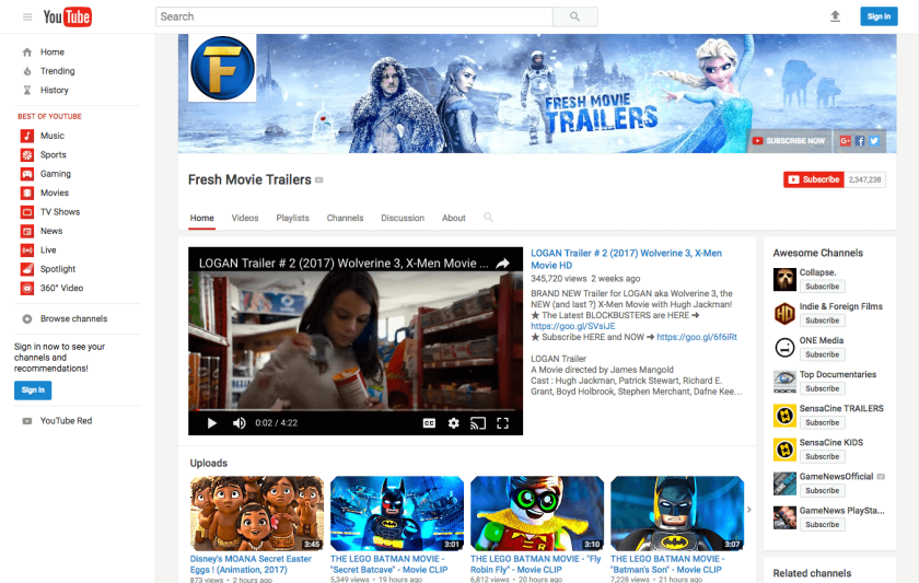 Create a popular YouTube channel and earn residual income from ads