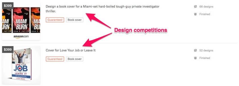 Lancez un concours sur 99designs pour obtenir une couverture d'ebook
