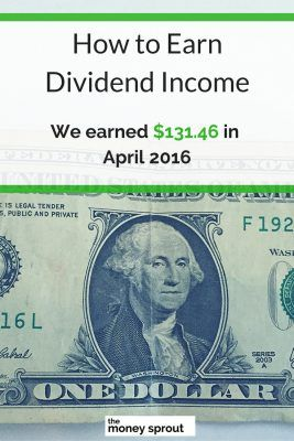 How We Earned $131.46 in Dividends in April 2016