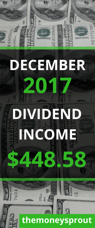 How We Earned $448.58 in Dividend Income in December 2017