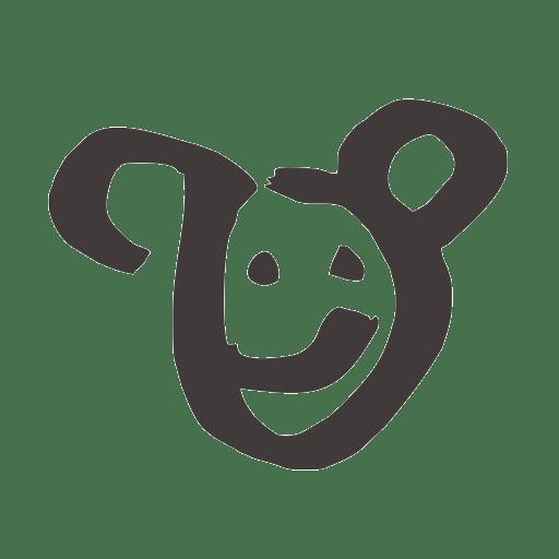 friendly black monkey icon