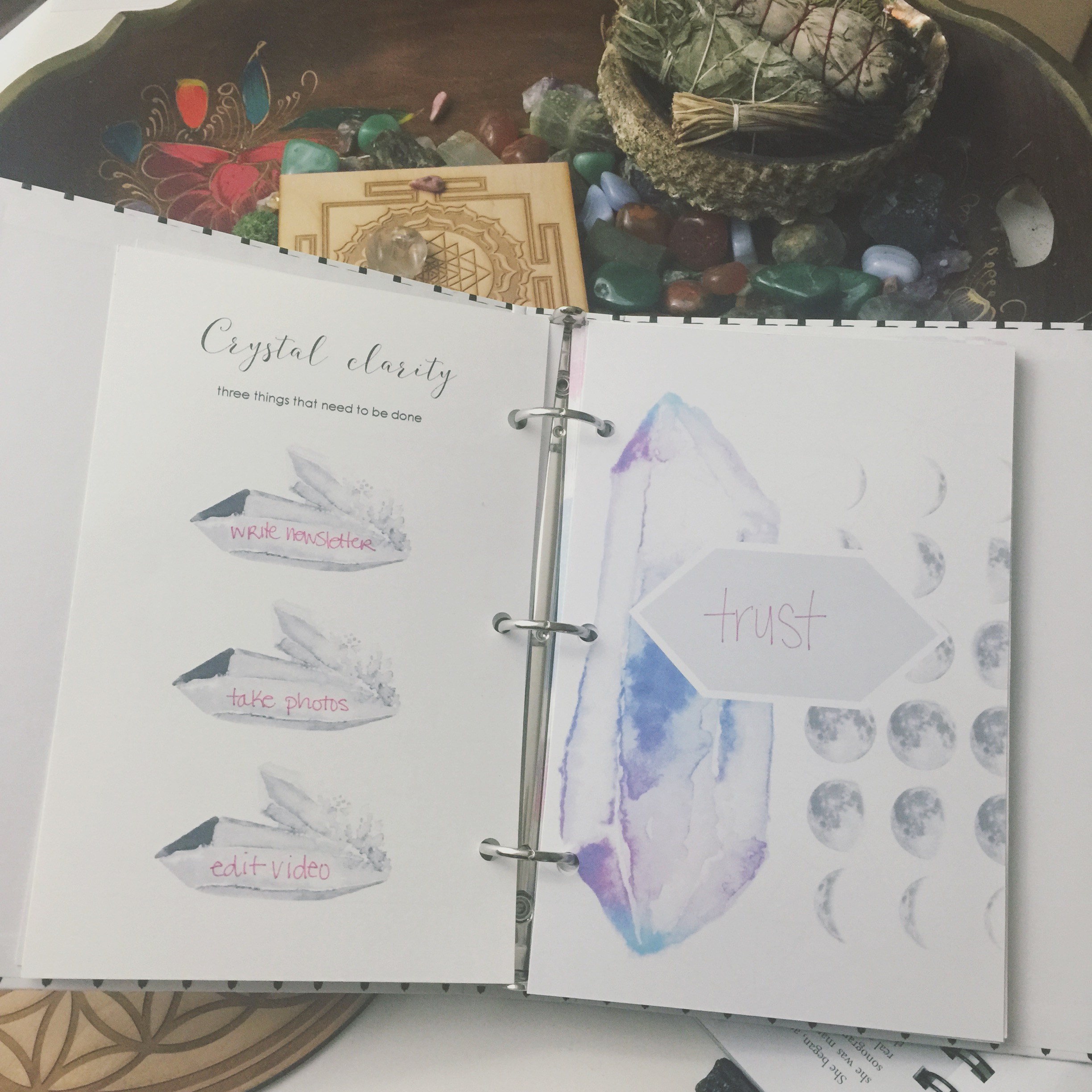 The Holistic Planner Manifesting Intentions Workbook