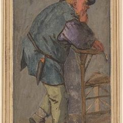Desk Chair Back Support Wooden High Chairs For Babies Cornelis Dusart | Peasant With A Pipe In His Hand, Leaning On The Of Drawings ...