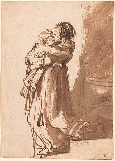 Rembrandt Harmenszoon van Rijn  Woman with a Child