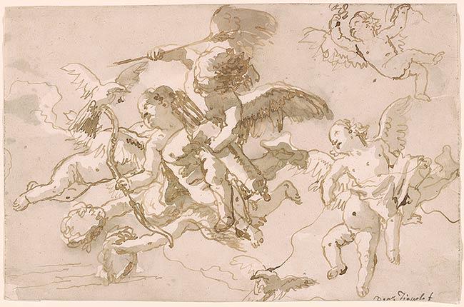 Giovanni Domenico Tiepolo  Cupid and Cherubs in the
