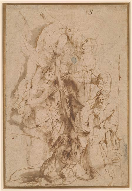 Peter Paul Rubens  Descent from the Cross Verso St