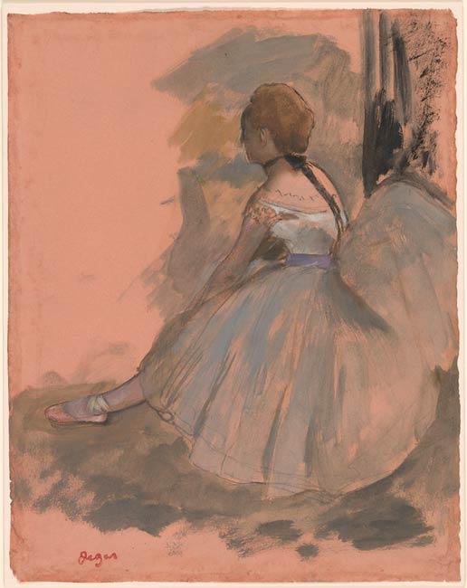 Edgar Degas  Seated Dancer  Drawings Online  The Morgan