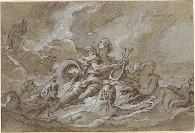Franois Boucher  Arion and the Dolphin  Drawings Online