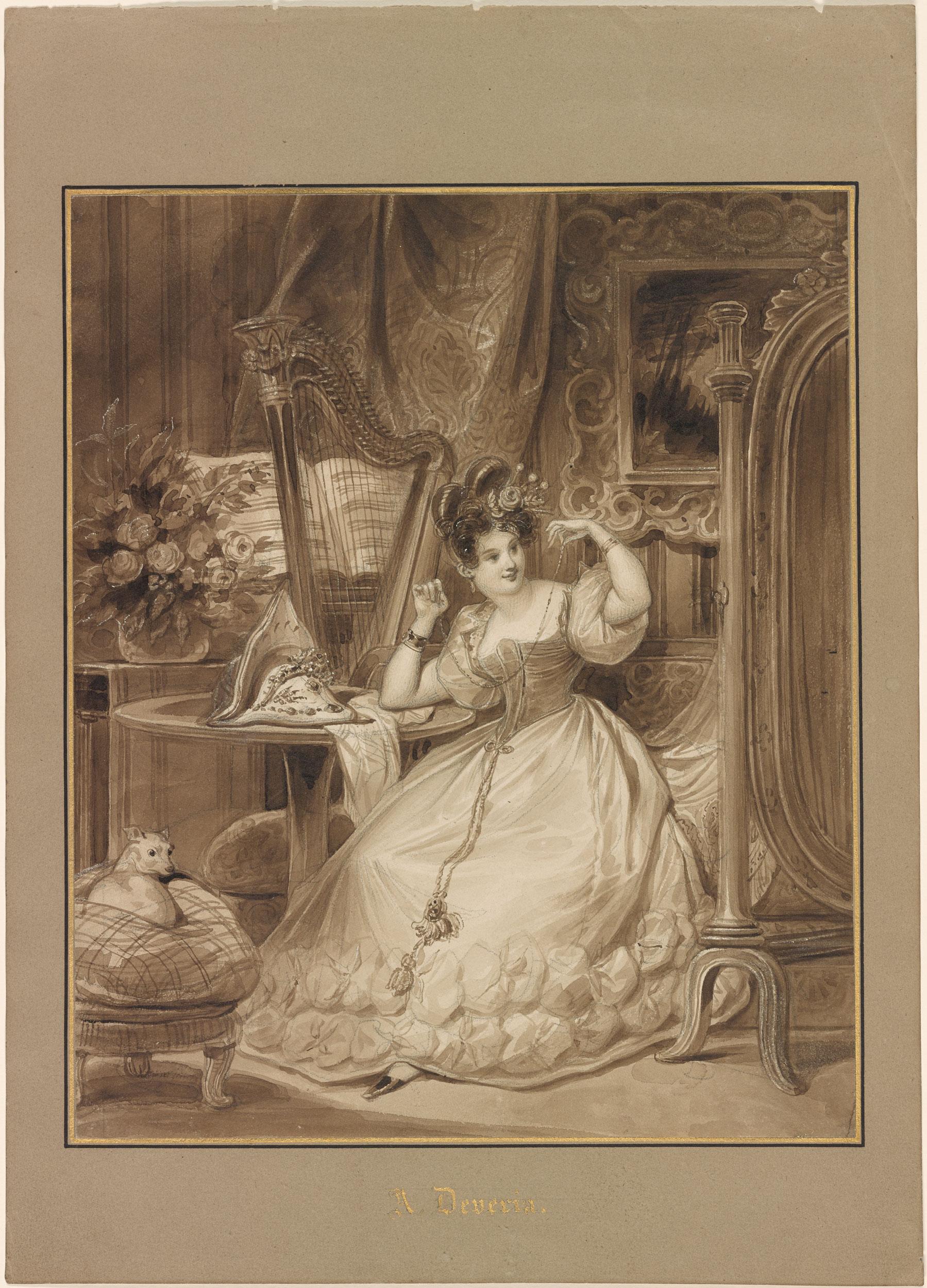 Achille Devria  Un jour avant le mariage  Drawings