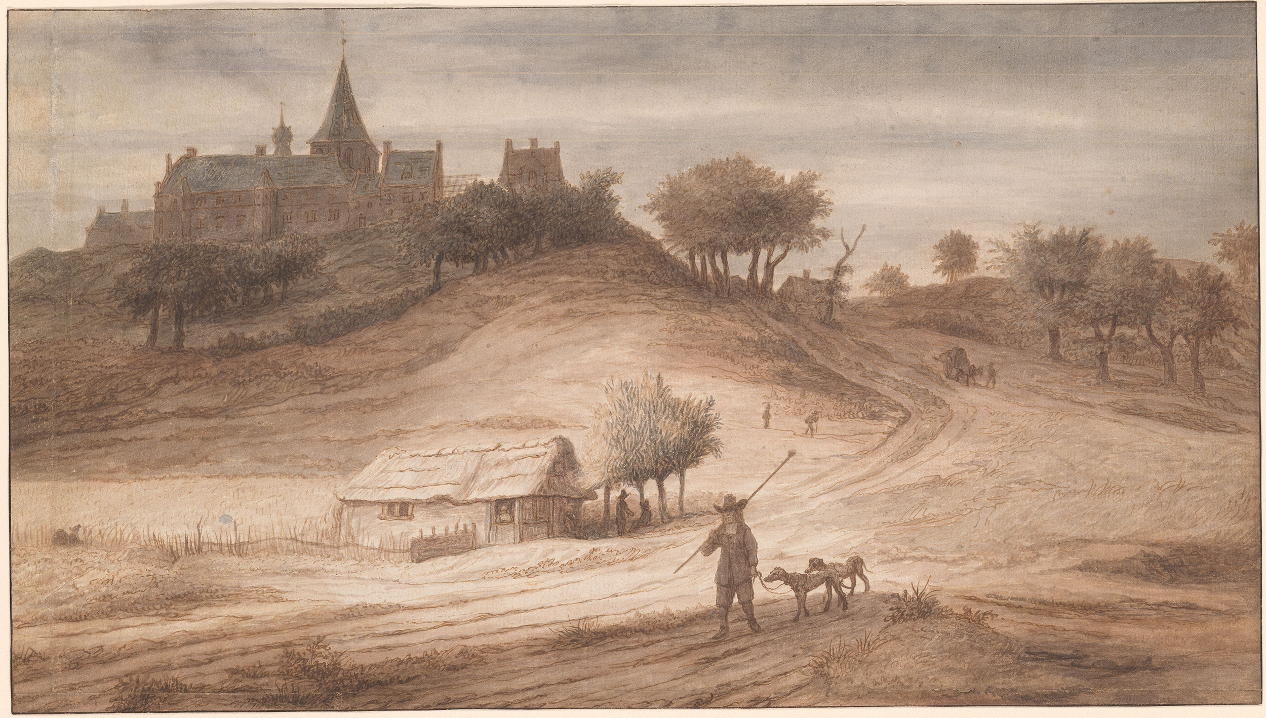 Lambert Doomer  View of Hochelten from the South  Drawings Online  The Morgan Library  Museum