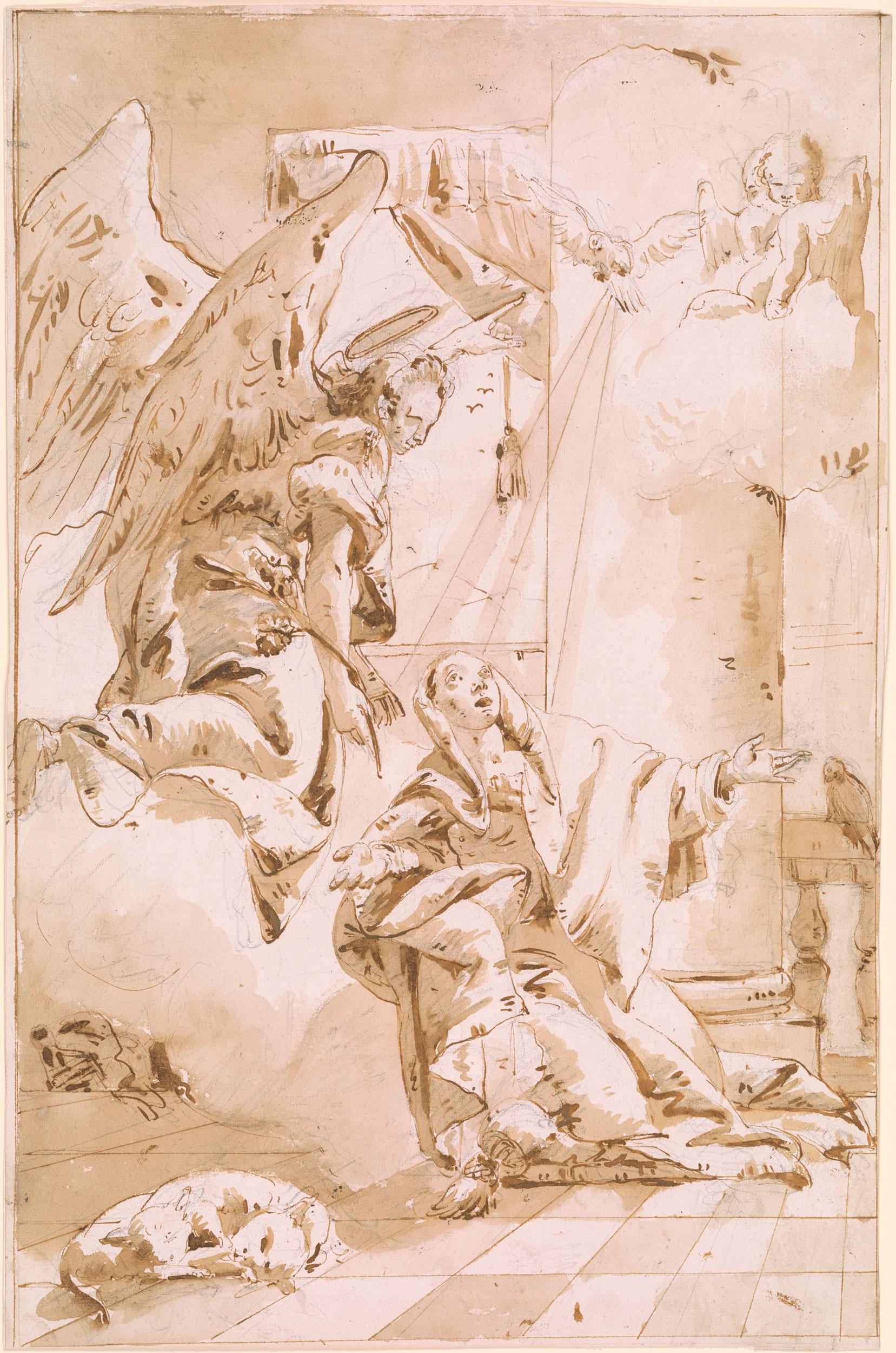 Giovanni Battista Tiepolo  The Annunciation  Drawings