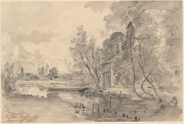 John Constable View Of Canal Newbury Drawings