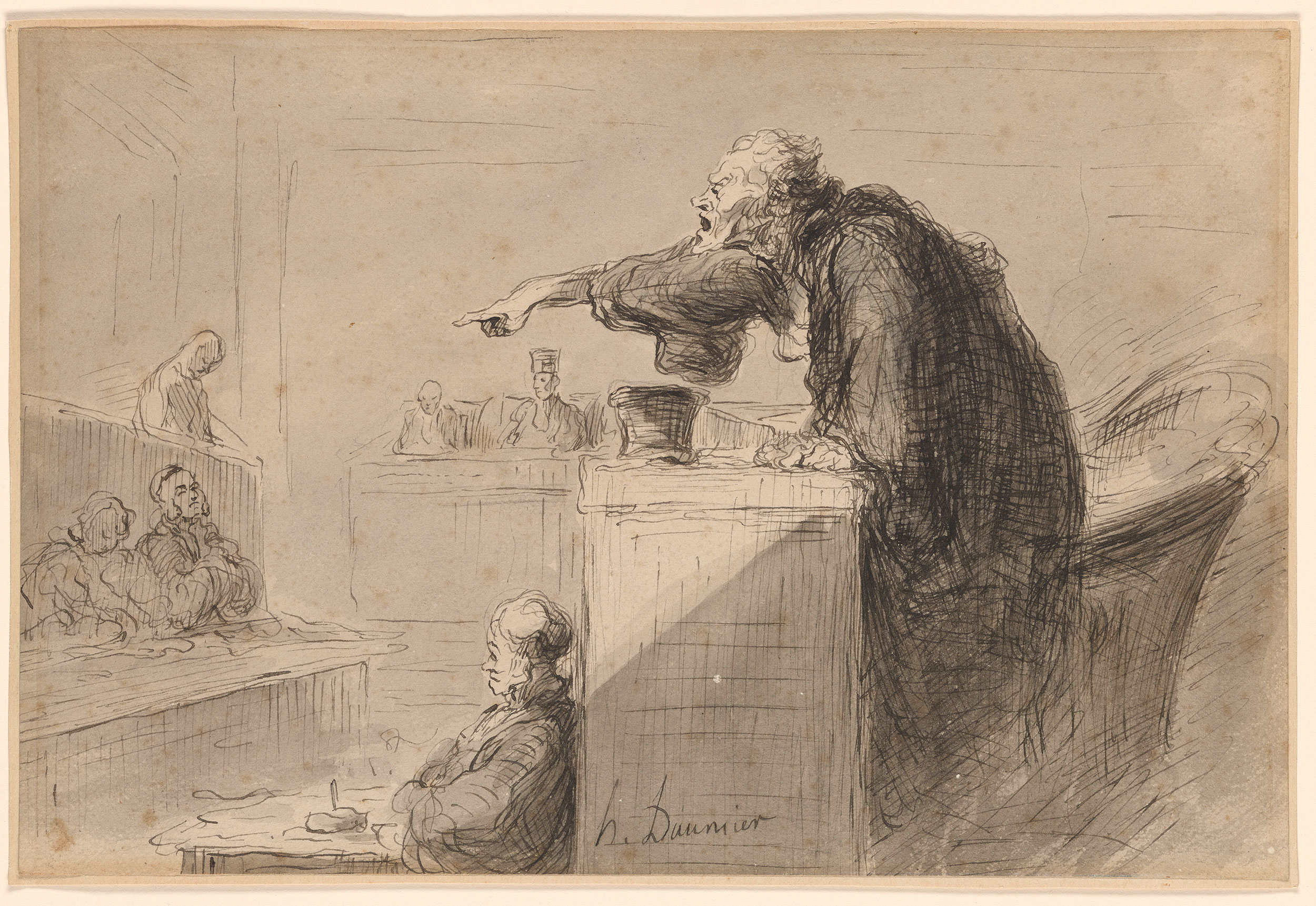 Honor Daumier  Accusation  Drawings Online  The Morgan