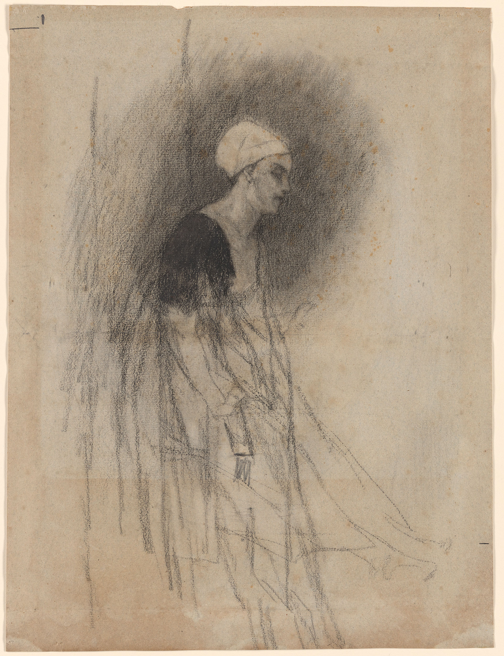 Flicien Rops  Seated Woman Study for a Print