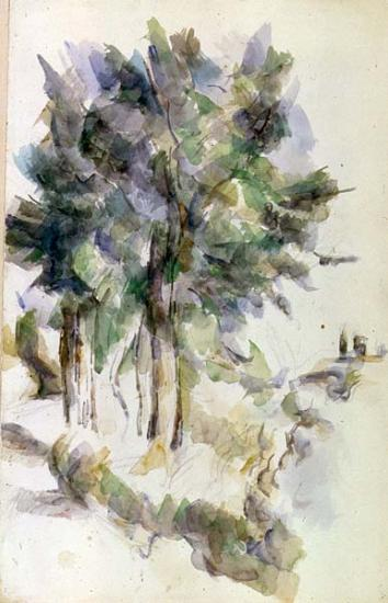 Trees  Paul Czanne  The Morgan Library  Museum