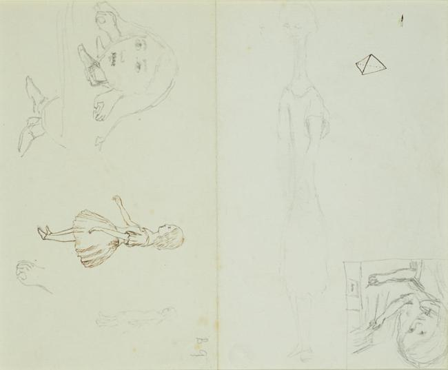 sketch diagram online ford straight 6 engine carroll s early sketches alice 150 years of wonderland the earliest attempt to depict grown suddenly tall is this very lightly penciled on back a sheet writing paper