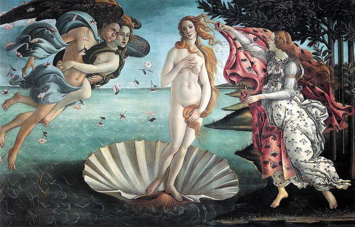 Nascimento de Venus Botticelli