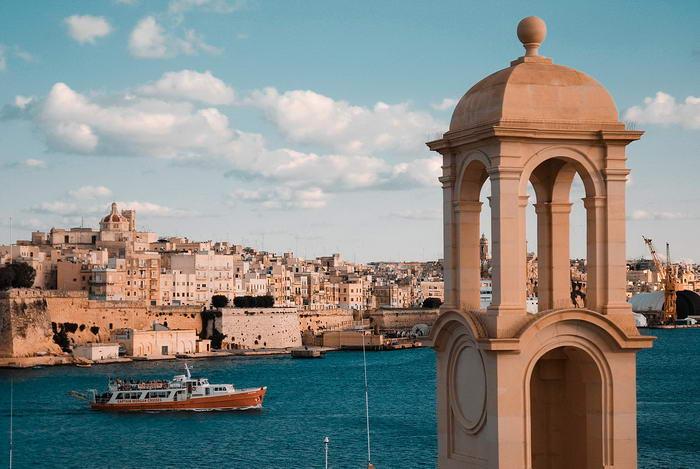 Vista da cidade de Valletta velha murada