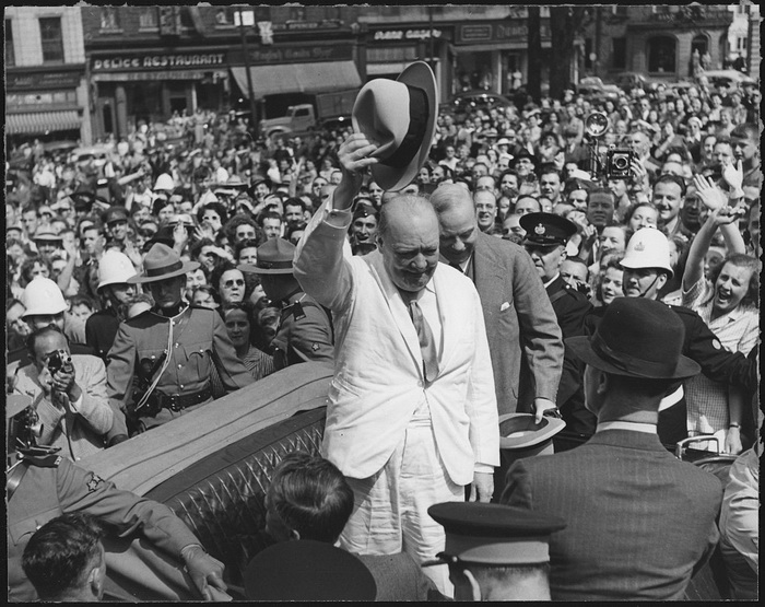 Winston Churchill em uma conferência