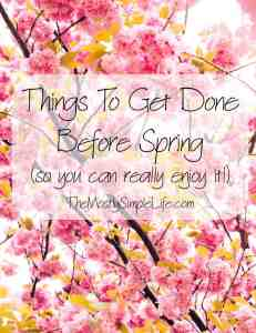 Things To Get Done Before Spring So You Can Really Enjoy It!