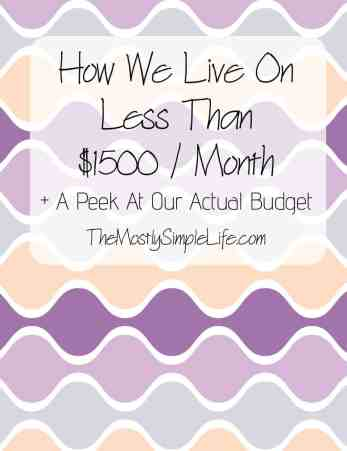 Live On Less Than $1500 A Month