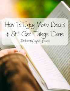 How To Enjoy More Books