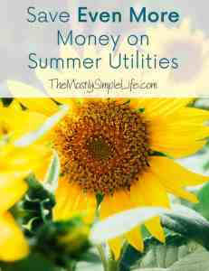 save money on summer utilities