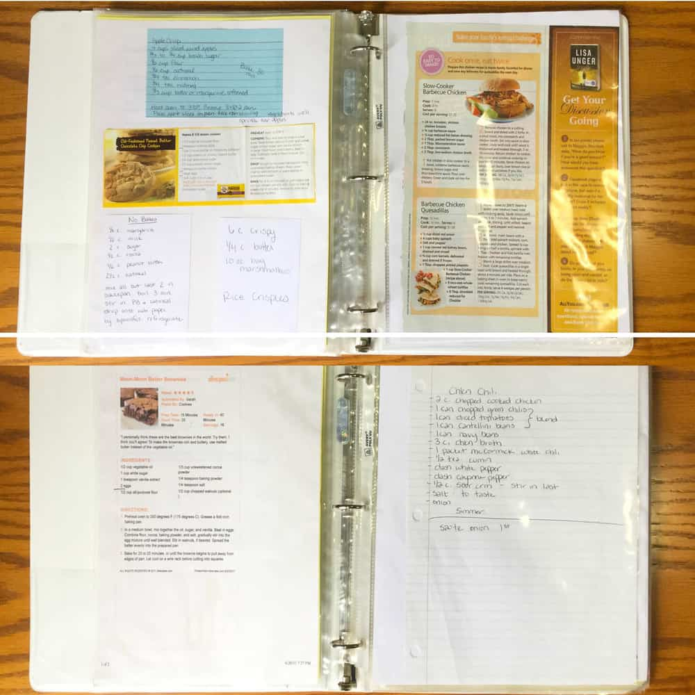 Make Your Own Recipe Binder & Declutter Your Cookbook