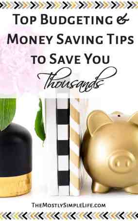 Top Budgeting and money saving tips to save thousands per year | Live on $1500 per month | House buying tips | Save money | Click through for all this awesome info!