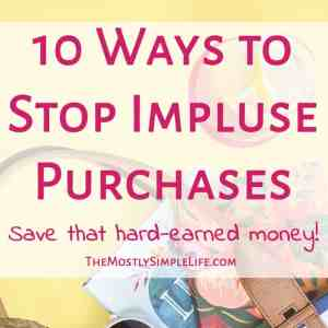 How to Stop Impulse Purchases